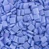 Miyuki Tila Bead 5X5mm 2 Hole Light Lapis Blue Opa. Aurora Borealis Matte